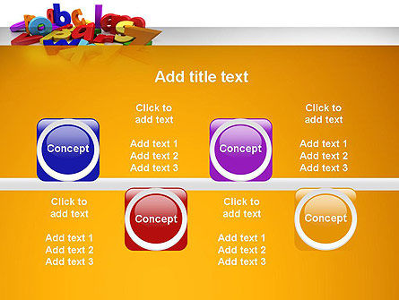 Colorful Letters PowerPoint Template Slide 18