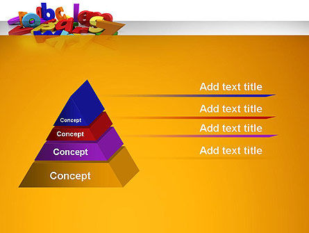 Colorful Letters PowerPoint Template, Slide 4, 13354, Education & Training — PoweredTemplate.com