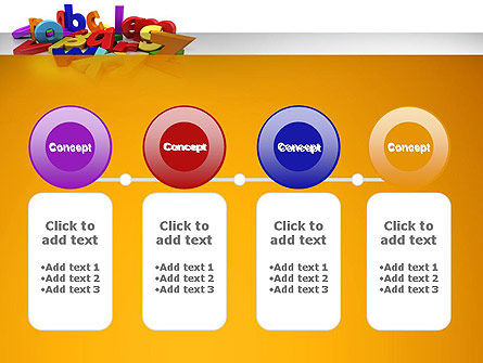 Colorful Letters PowerPoint Template Slide 5