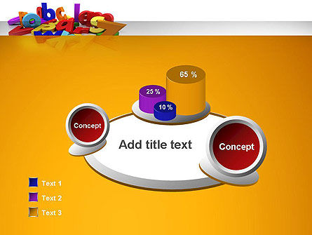 Colorful Letters PowerPoint Template Slide 6