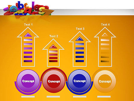 Colorful Letters PowerPoint Template Slide 7