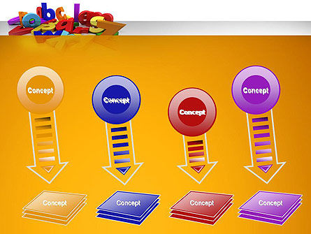 Colorful Letters PowerPoint Template Slide 8
