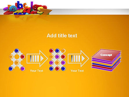 Colorful Letters PowerPoint Template Slide 9