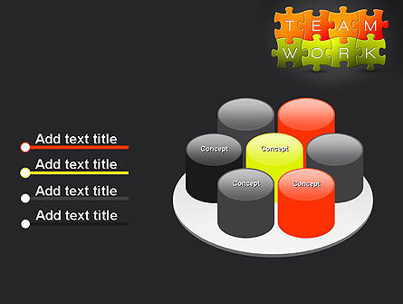 Teamwork Puzzle PowerPoint Template Slide 12