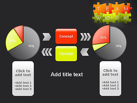 Teamwork Puzzle PowerPoint Template Slide 16