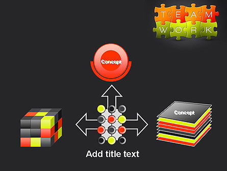 Teamwork Puzzle PowerPoint Template Slide 19