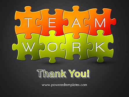 Teamwork Puzzle PowerPoint Template Slide 20
