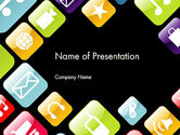 Technology and Science: App Icons PowerPoint Template #13357