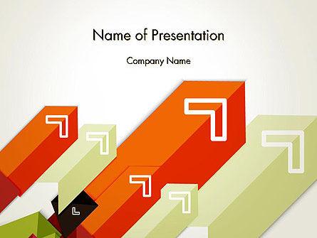 Diagonal Arrows PowerPoint Template, 13358, Business Concepts — PoweredTemplate.com