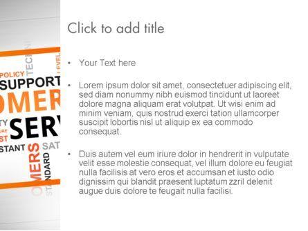 Customer Service Word Cloud PowerPoint Template, Slide 3, 13359, Careers/Industry — PoweredTemplate.com