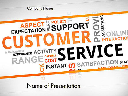 Customer Service Word Cloud PowerPoint Template