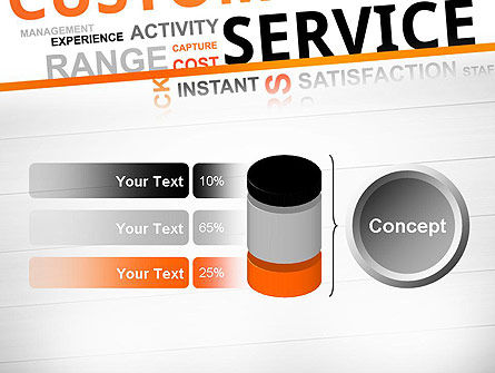 Customer Service Word Cloud PowerPoint Template Slide 11