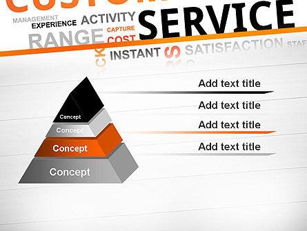 Customer Service Word Cloud PowerPoint Template Slide 12