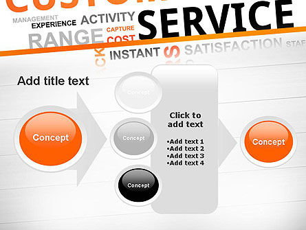 Customer Service Word Cloud PowerPoint Template Slide 17
