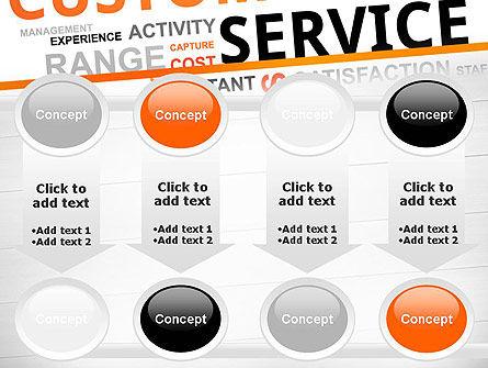 Customer Service Word Cloud PowerPoint Template Slide 18