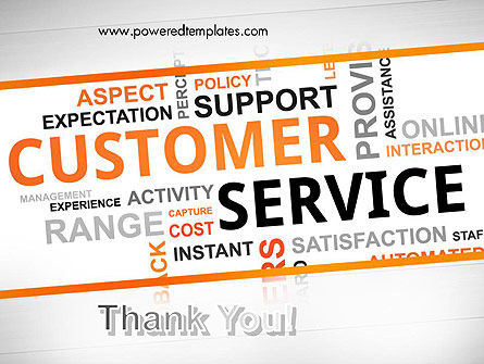 Customer Service Word Cloud PowerPoint Template Slide 20