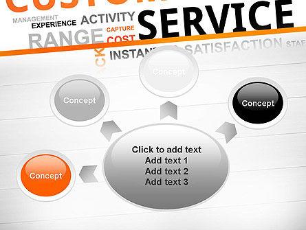 Customer Service Word Cloud PowerPoint Template Slide 7