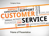 Careers/Industry: Customer Service Word Cloud PowerPoint Template #13359