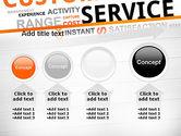 Customer Service Word Cloud PowerPoint Template#13