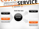Customer Service Word Cloud PowerPoint Template#14