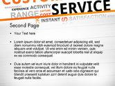 Customer Service Word Cloud PowerPoint Template#2