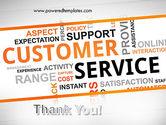 Customer Service Word Cloud PowerPoint Template#20