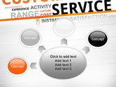 Customer Service Word Cloud PowerPoint Template#7