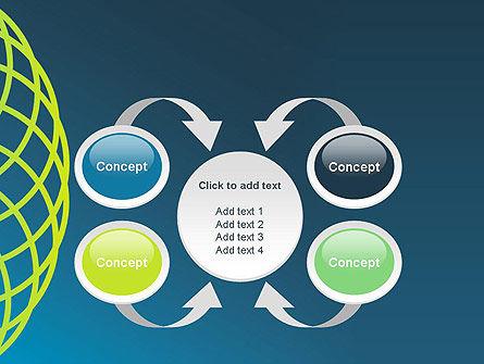 Net Circles PowerPoint Template Slide 6