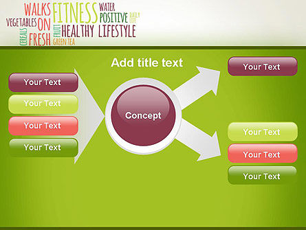 Healthy Lifestyle Word Cloud PowerPoint Template Slide 14