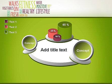 Healthy Lifestyle Word Cloud PowerPoint Template Slide 16