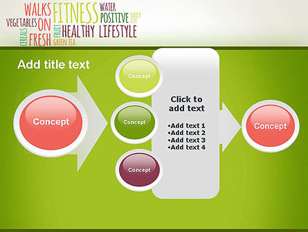 Healthy Lifestyle Word Cloud PowerPoint Template Slide 17