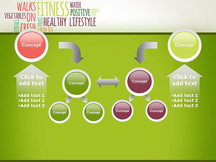 Healthy Lifestyle Word Cloud PowerPoint Template Slide 19