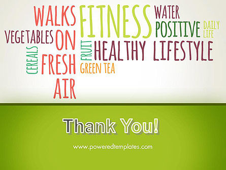 Healthy Lifestyle Word Cloud PowerPoint Template Slide 20