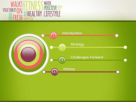 Healthy Lifestyle Word Cloud PowerPoint Template Slide 3