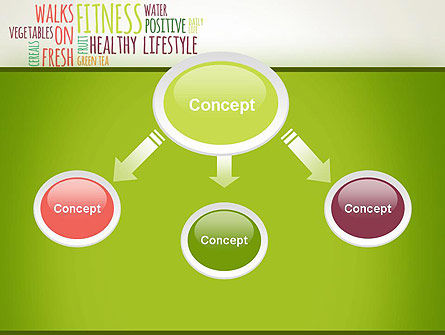 Healthy Lifestyle Word Cloud PowerPoint Template Slide 4