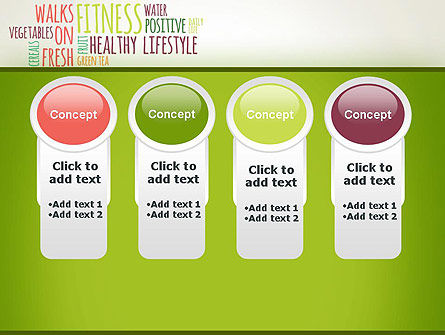 Healthy Lifestyle Word Cloud PowerPoint Template Slide 5