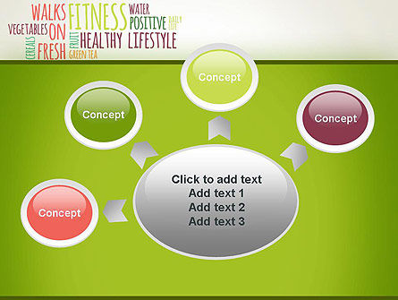 Healthy Lifestyle Word Cloud PowerPoint Template Slide 7