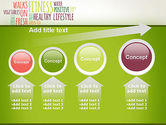 Healthy Lifestyle Word Cloud PowerPoint Template#13