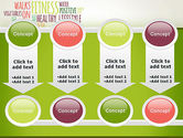Healthy Lifestyle Word Cloud PowerPoint Template#18