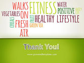 Healthy Lifestyle Word Cloud PowerPoint Template#20