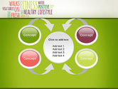 Healthy Lifestyle Word Cloud PowerPoint Template#6