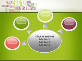 Healthy Lifestyle Word Cloud PowerPoint Template#7