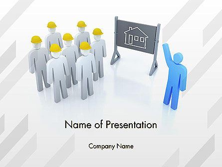 Construction: Discussion of Project PowerPoint Template #13363