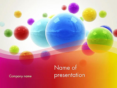 Colorful Flying Spheres PowerPoint Template