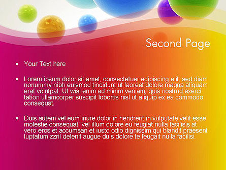 Colorful Flying Spheres PowerPoint Template, Slide 2, 13364, 3D — PoweredTemplate.com