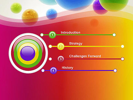 Colorful Flying Spheres PowerPoint Template, Slide 3, 13364, 3D — PoweredTemplate.com