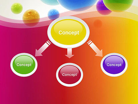 Colorful Flying Spheres PowerPoint Template, Slide 4, 13364, 3D — PoweredTemplate.com