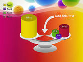Colorful Flying Spheres PowerPoint Template#10