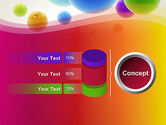 Colorful Flying Spheres PowerPoint Template#11