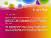 Colorful Flying Spheres PowerPoint Template#2